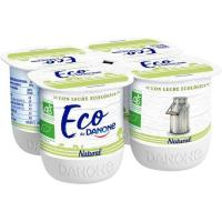 Yogur eco natural DANONE, pack 4x125 g