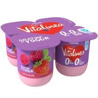 Gelatina de frutos rojos VITALINEA, pack 4x120 g