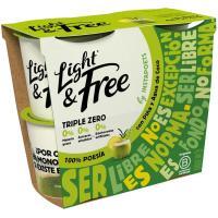 Bebible piña coco LIGHT&FREE, pack 4x115 g