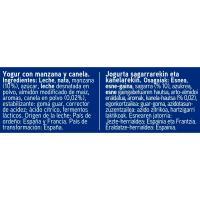 Yogur griego con manzana y canela EROSKI, pack 4x125 g