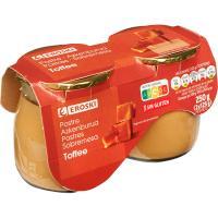 Postre toffe de leche de Pirineos EROSKI, pack 2x125 g