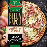 Pizza Bella Napoli proscuitto funghi BUITONI, caja 415 g