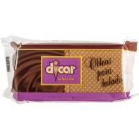 Obleas para helado DICAR, 20 uds., paquete 35 g