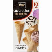 Cucuruchos de galleta para helados DICAR, 10 uds., caja 100 g