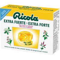 Caramelos extra fuerte de miel-limón RICOLA, caja 51 g