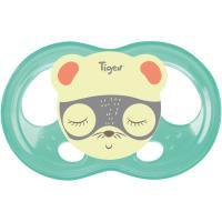 Chupete fisiológico silicona especial noche Soft Touch +6meses TIGEX, 2uds