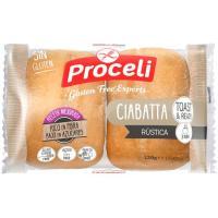 Ciabatta rústica sin gluten PROCELI, paquete 120 g