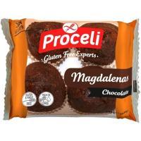 Magdalenas de chocolate sin gluten PROCELI, paquete 180 g