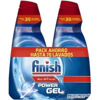 Lavavajillas gel FINISH Todo en 1, pack 2x33 dosis