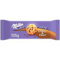 Galleta choco cookies MILKA, paquete 135 g