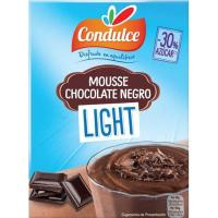 Mousse light de chocolate negro CONDULCE, caja 64 g