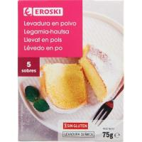 Levadura en polvo EROSKI, caja 75 g