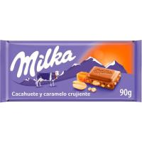 Chocolate de caramelo-avellana MILKA, tableta 90 g