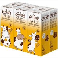 Batido cacao 95% leche CACAOLAT, pack 6x200 ml