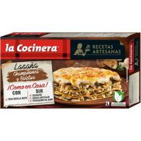 Lasaña de champiñones-boletus LA COCINERA, caja 500 g