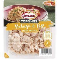 Tiras de pollo al natural SERRANO, bandeja 140 g