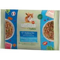 Alimento húmedo salmón&trucha gato ULTIMA Nature, paquete 340 g