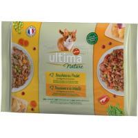 Alimento húmedo de pollo&ave gato ULTIMA Nature, paquete 340 g