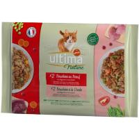 Alimento húmedo atún&pescado gato ULTIMA Nature, paquete 340 g