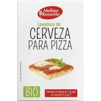 Levadura de cerveza para pizza bio MOLINO ROSSETTO, pack 3x7 g