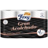 Papel higiénico acolchado FOXY, paquete 6 rollos