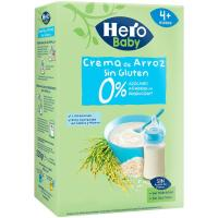 Papilla de crema de arroz sin gluten HERO, caja 220 g