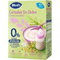Papilla de cereales sin gluten HERO, caja 340 g