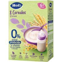 Papilla 8 cereales HERO, caja 340 g
