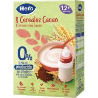 Papilla 8 cereales con cacao HERO, caja 340 g