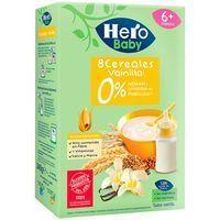 Papilla 8 cereales con vainilla HERO, caja 340 g