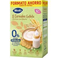 Papilla 8 cereales con galleta HERO, caja 820 g