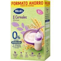 Papilla 8 cereales HERO, caja 820 g