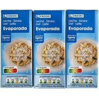 Leche evaporada EROSKI, pack 3x210 g