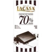 Chocolate 70% cacao LACASA, tableta 100 g