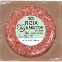 Hamburguesa vacuno ecológica reduc. en grasa ROIA, bandeja 150 g