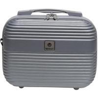Neceser color plata ABS Elegant, 30x22x14 cm., 1 ud.