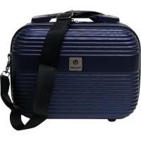 Neceser color azul ABS Elegant, 30x22x14 cm., 1 ud.