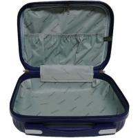 Neceser color morado ABS Elegant, 30x22x14 cm, 1 ud.