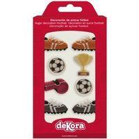 Decoración de azúcar formas de fútbol DEKORA, pack 8 uds.