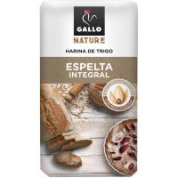 Harina integral de trigo-espelta GALLO Nature, paquete 1 kg