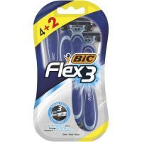 Maquinilla desechable BIC FLEX 3, pack 4+2 uds.