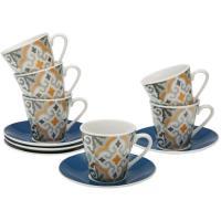 Tazas cafe Alfama, porcelana, 6uds