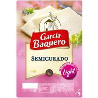Queso semi light GARCÍA BAQUERO, lonchas, bandeja 150 g