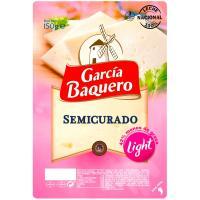 Queso semi light GARCÍA BAQUERO, lonchas, bandeja 150 g