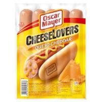 Salchicha con queso cheddar OSCAR MAYER, sobre 275 g