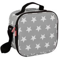 Bolsa portalimentos Stars grey+ 2 contenedores plástico: 0,5l y 2 de 0,2 l TATAY