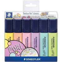 Marcador fluorescente multicolor pastel Textsurfer Classic STAEDTLER, Pack 6 uds