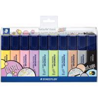 Marcador fluorescente, colores pastel y vintage Textsurfer STAEDTLER, Pack 10uds