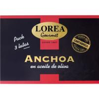 Anchoa del Cantábrico LOREA, pack 3x30 g