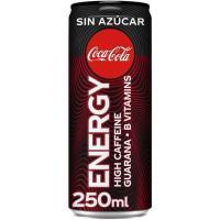 Bebida energética sin azúcar COCA COLA ENERGY, lata 25 cl